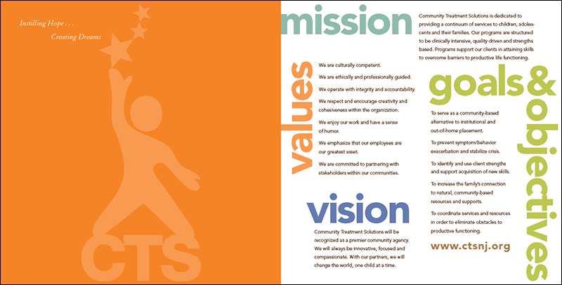 Community Treatment Solutions annual report inside front cover and page 1