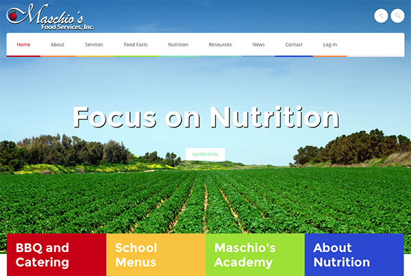 Maschio's Food Services Website