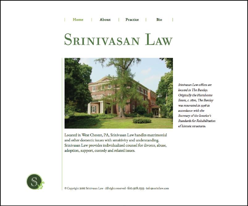 Srinivasan Law website