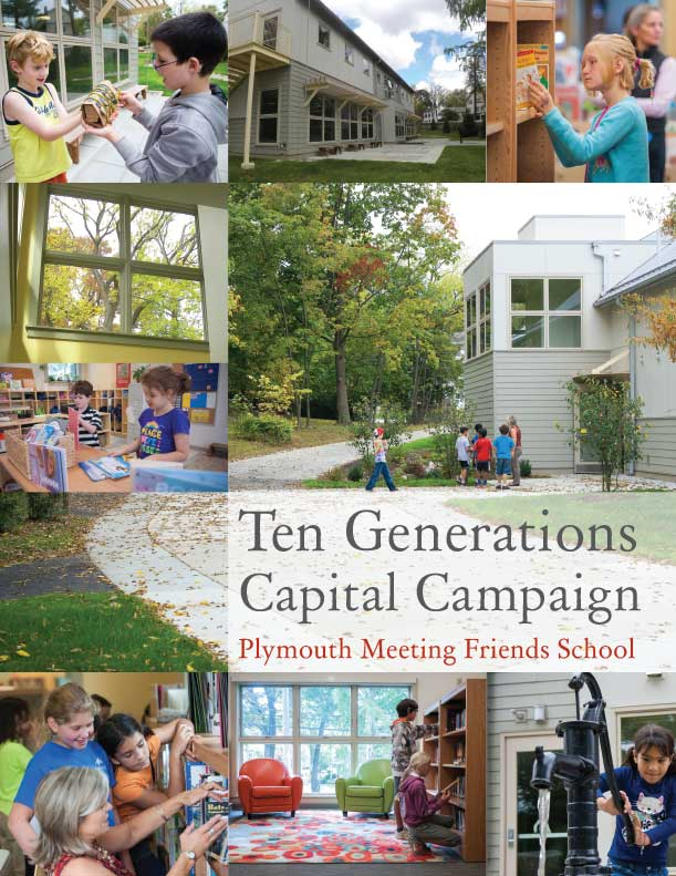 Plymouth Meeting Friends School Capital Campaign brochure