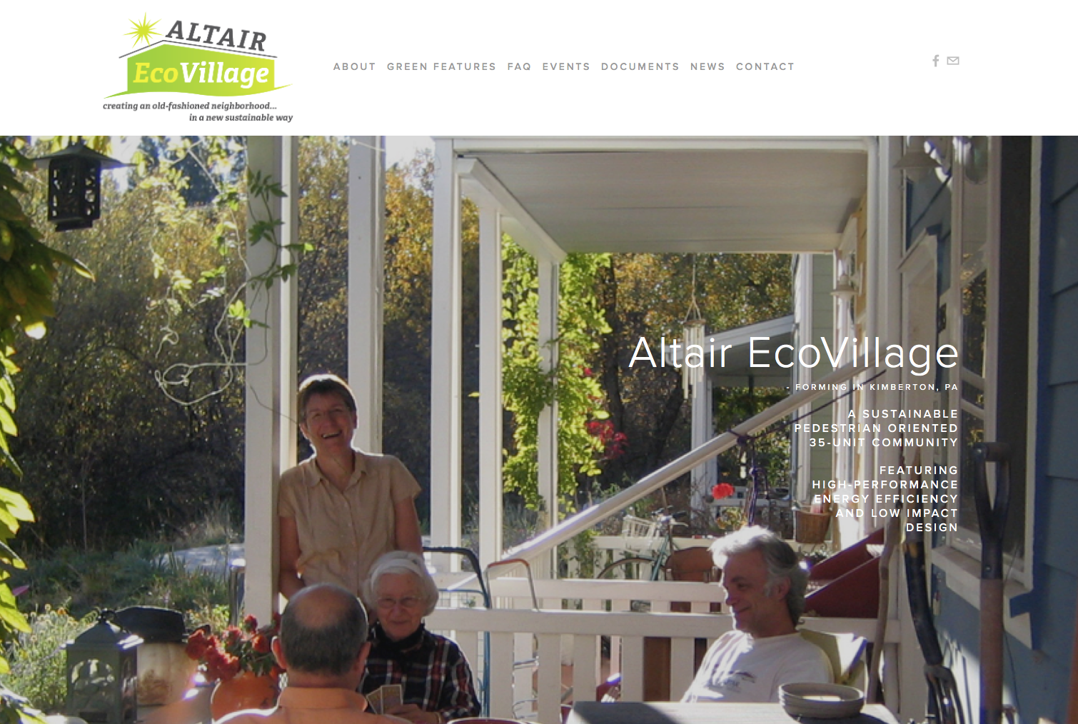 Altair EcoVillage website home