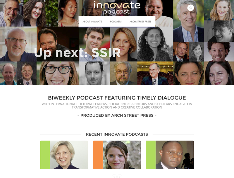 Innovate Podcast home page
